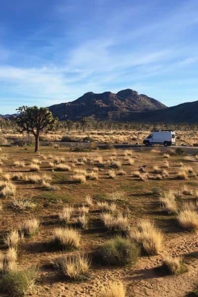 Glampervan in the desert