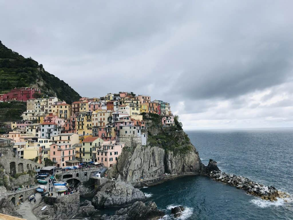 Manarola Italy during my solo travel to Italy