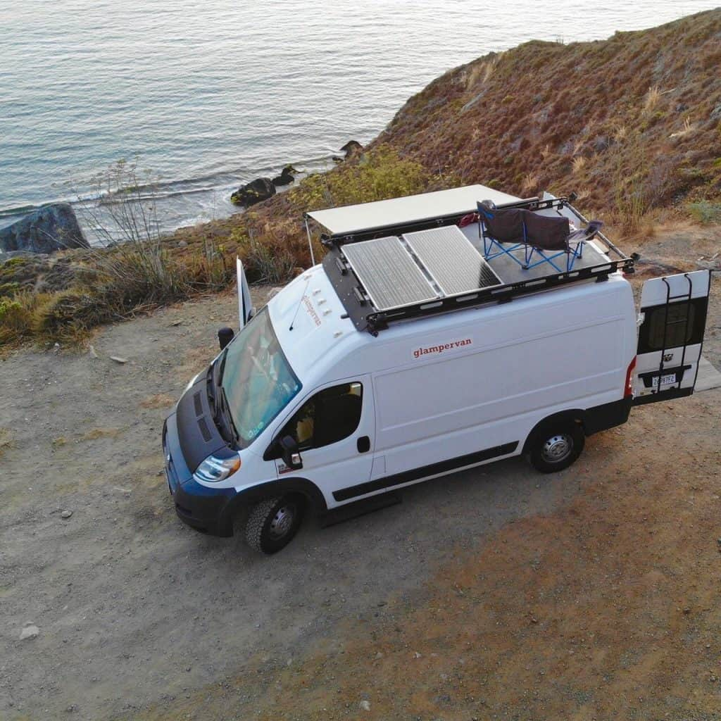A Glampervan conversion of a Dodge campervan - the perfect vehicle for road trips