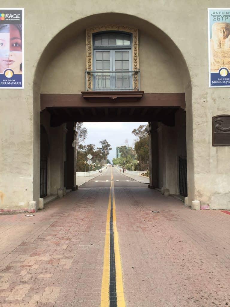 Park Boulevard Bridge in Balboa Park The start of the 7 bridges Hike San Diego