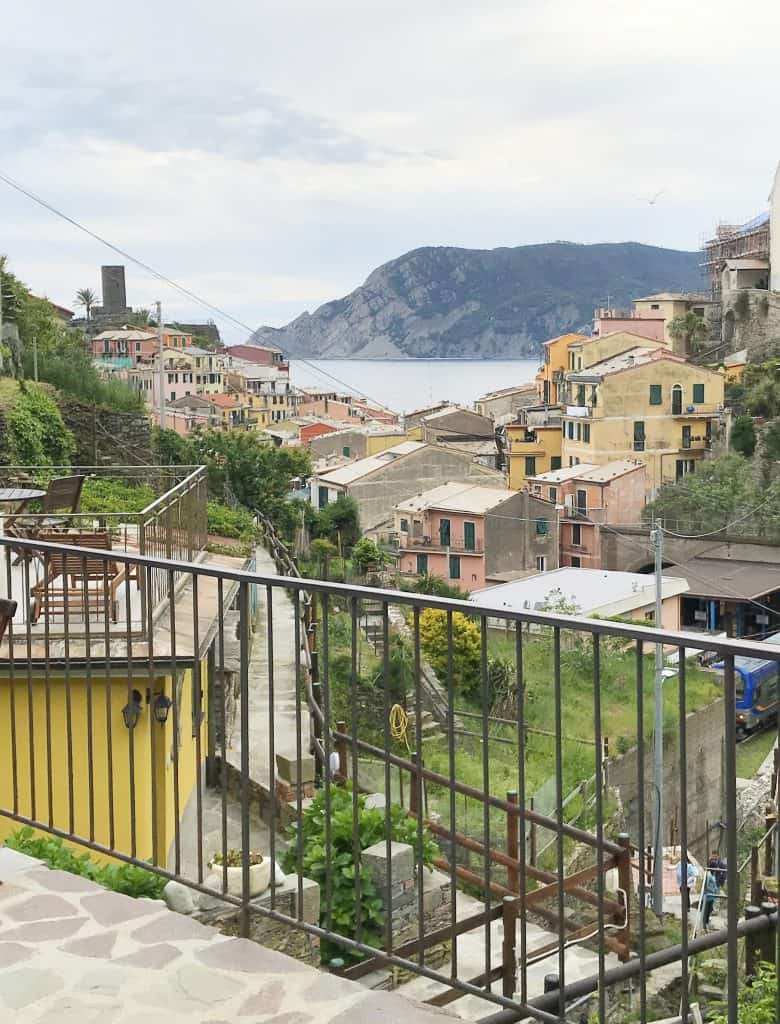View from Camino Giuliano Vernazza Italy. A perfect place to stay during your solo travel to Italy