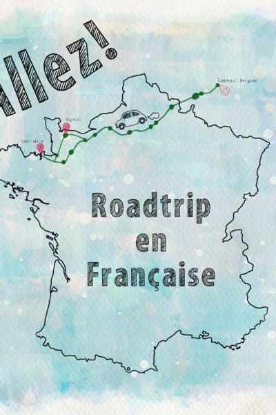 Scrapbook page of road trip in France