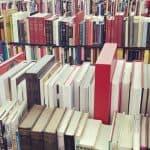Book store shelves