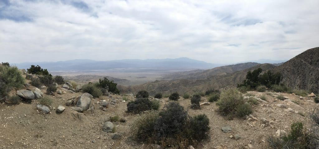 Keys View point, the highest point in Joshua tree National park