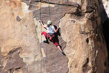 Woman climber in Joshua Tree National Park NPS Dave Glascow