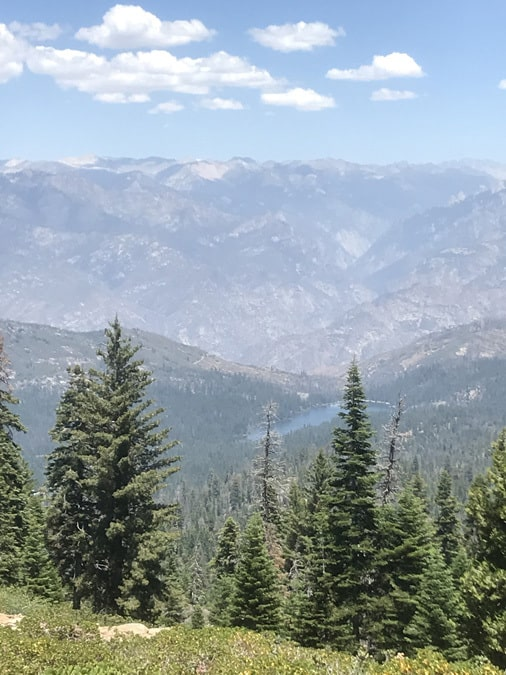 View of Hume Lake from the Park Ridge Trail - camping near Sequoia National Park