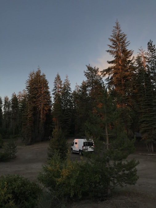 Example 4 of dispersed camping near Sequoia National Park.  Rabbit Meadow