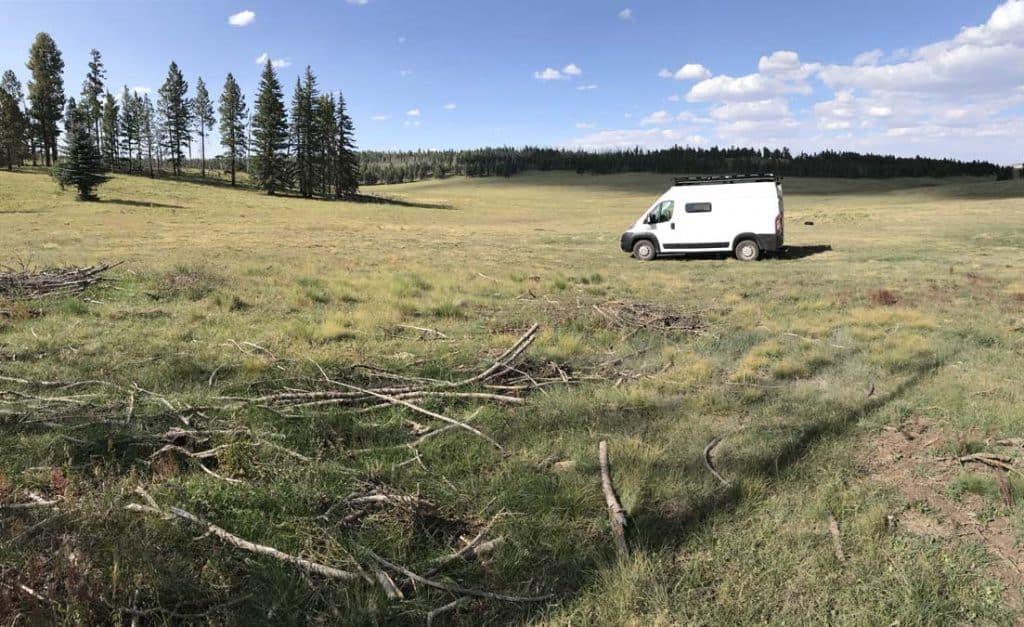 Free camping in Arizona near Big Lake, perfect for women camping alone.