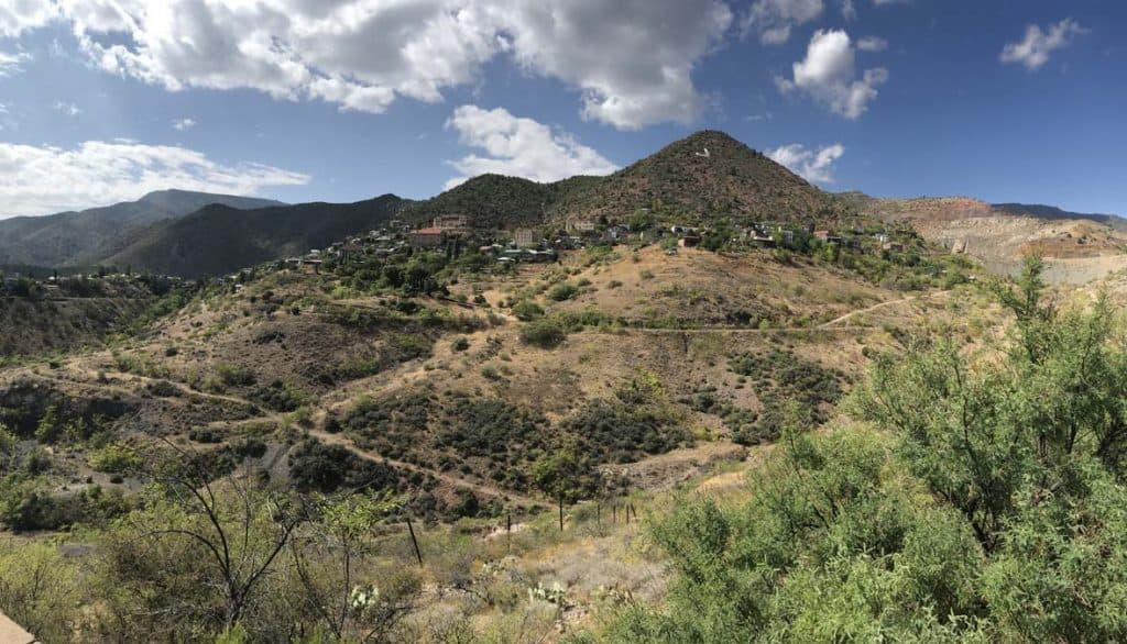 Jerome. Arizona - perched on the side of a mountain. Sacary drive so women camping alone need to know.