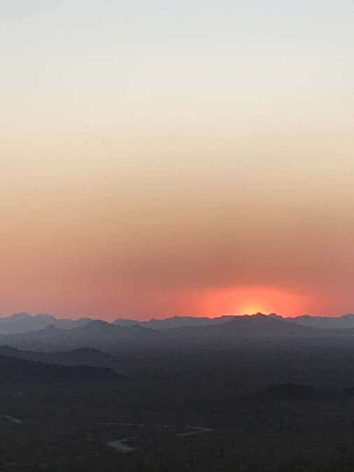 Sunset in Kofa NWR