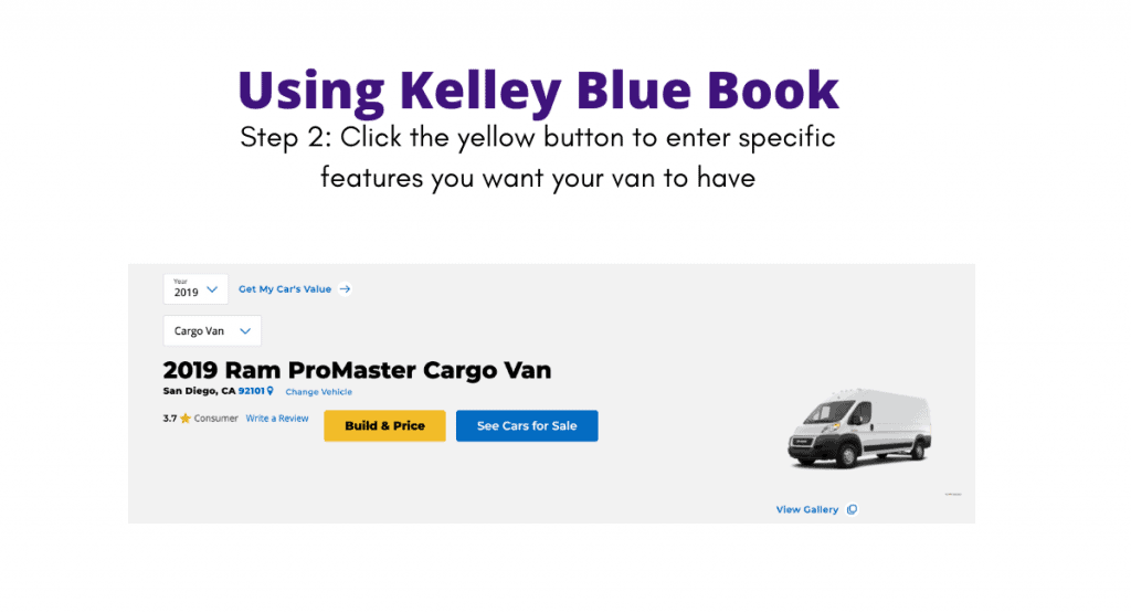 Screenshot of Kelley Blue Book explained